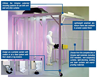 Softwall Cleanrooms and Portable WorkStations - Construction