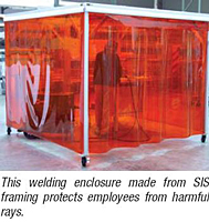 Softwall Cleanrooms and Portable WorkStations - Framing Protects
