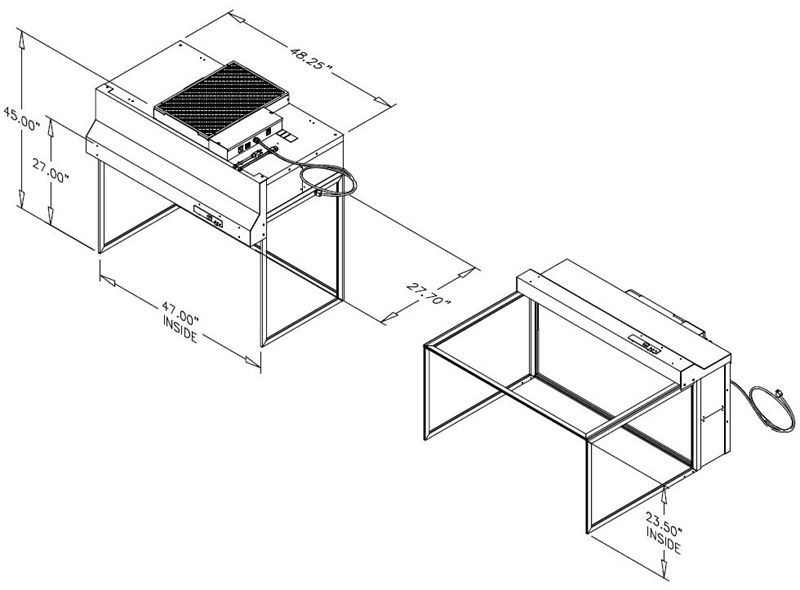 Hlf 797 Unidirectional Flow Clean Bench
